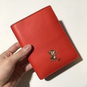 Coach x Gary Baseman Red Leather Passport Cover